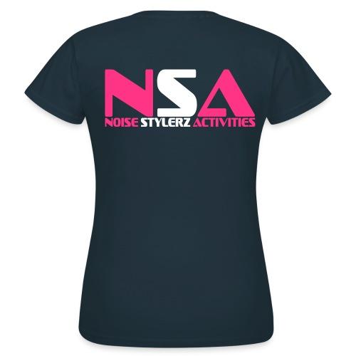 T-shirt bleu marine Femme NSA - T-shirt Femme