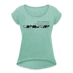 Cinematique 'Widescreen' Female (Mint) - Women's T-shirt with rolled up sleeves