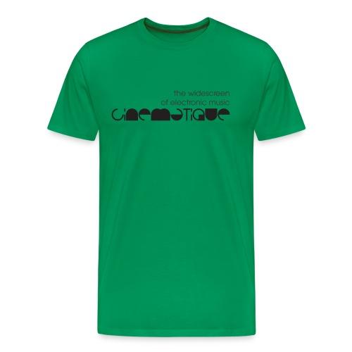 Cinematique 'Widescreen' Male (Green) - Men's Premium T-Shirt