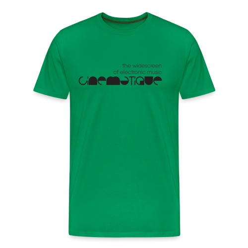 Cinematique 'Widescreen' Male (Green) - Men's Premium T-Shirt
