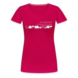Cinematique 'Widescreen' Female (Pink) - Women's Premium T-Shirt