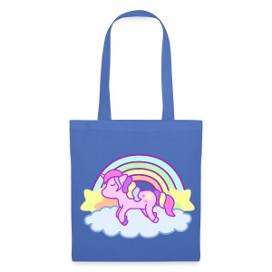 Toto bag Rainbow Unicorn bleu pâle - Tote Bag