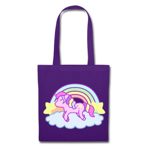 Toto bag Rainbow Unicorn violet - Tote Bag