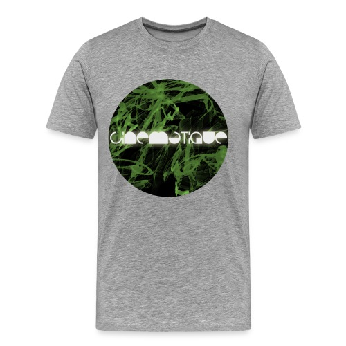 Cinematique 'Green Flashes' Male (Grey) - Men's Premium T-Shirt