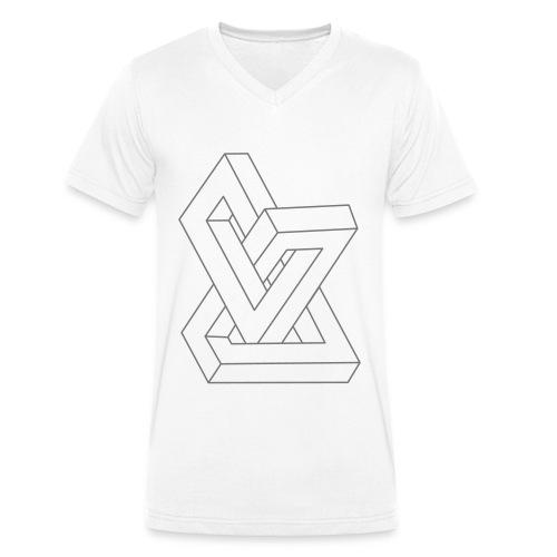Geom2, T-shirt Homme blanc - T-shirt bio col V Stanley & Stella Homme
