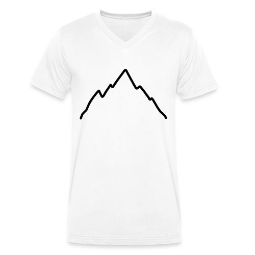 mont, T-shirt Homme blanc - T-shirt bio col V Stanley & Stella Homme