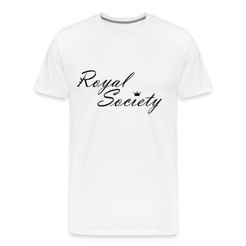 Herren T-Shirt Weiß: Royal Society - Männer Premium T-Shirt
