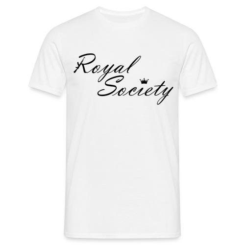 Herren T-Shirt Weiß: Royal Society - Männer T-Shirt