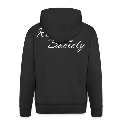 Männer Kapuzenjacke Schwarz: Royal Society - Männer Premium Kapuzenjacke