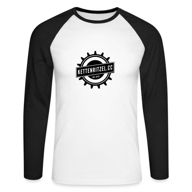 Kettenritzel_black - Männer Baseballshirt langarm