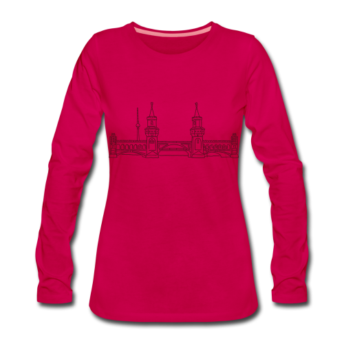 Oberbaumbrücke in Berlin - Frauen Premium Langarmshirt