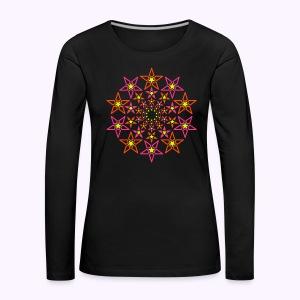 Fractal Stargate 3-Color Women Longsleeve - Women's Premium Longsleeve Shirt