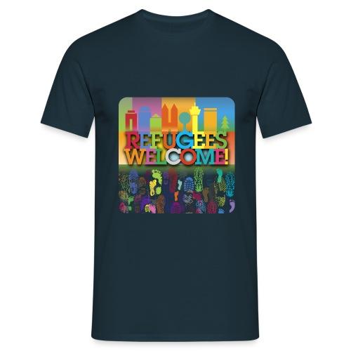 Refugees-Welcome-Männershirt - Männer T-Shirt
