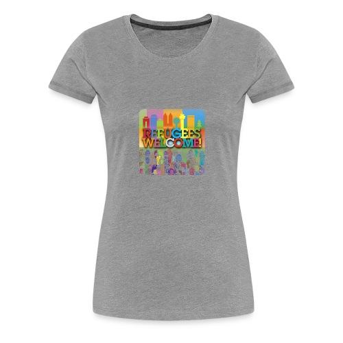 Refugees-Welcome-Frauenshirt - Frauen Premium T-Shirt