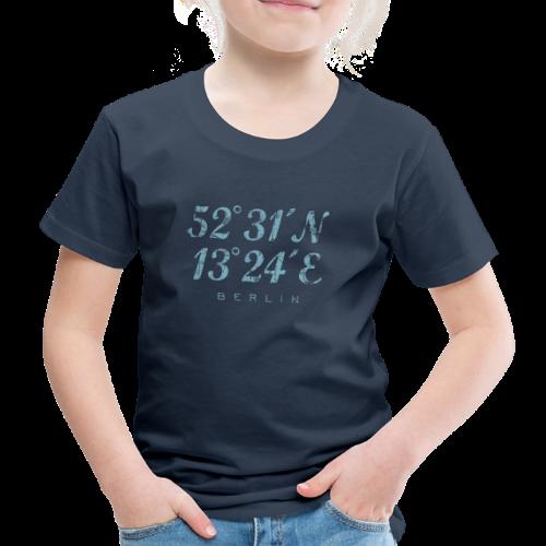 Berlin Koordinaten (Vintage/Hellblau) Kinder T-Shirt - Kinder Premium T-Shirt