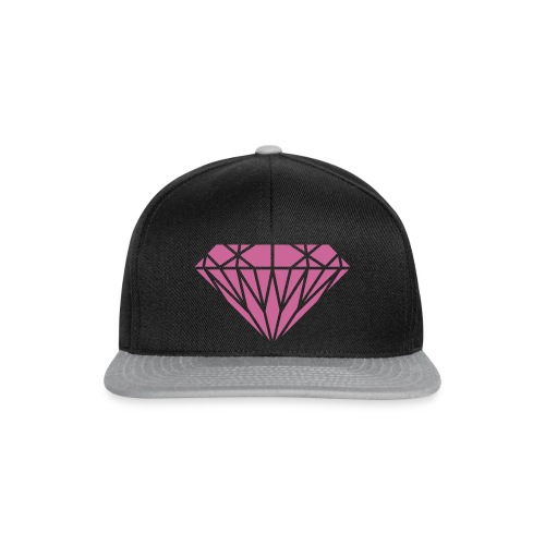 Cap Glitter Pink Diamond - Czapka typu snapback