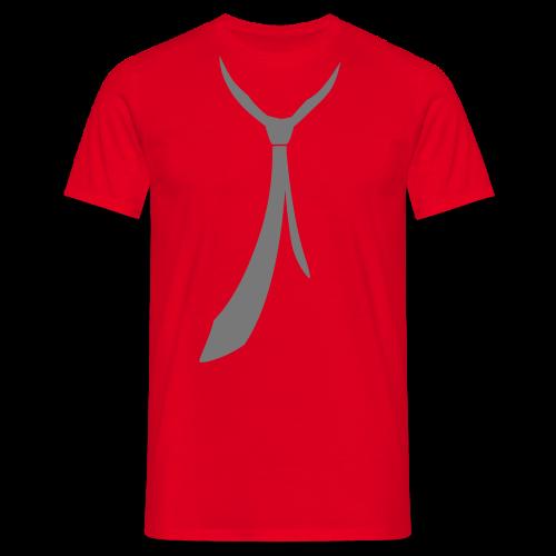 JUSTSOMEMOTION - Grey Tie T-Shirts - Männer T-Shirt