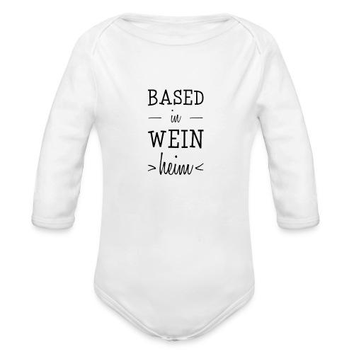 Weinheim Baby Body Woinem inkl. Frontprint - Baby Bio-Langarm-Body