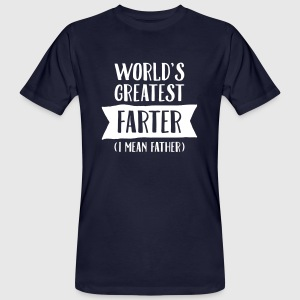 World's Greatest Farter (I Mean Father) T-shirts - Organic mænd
