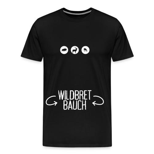 Wildbretbauch - Herren T-Shirt Jagd - Männer Premium T-Shirt
