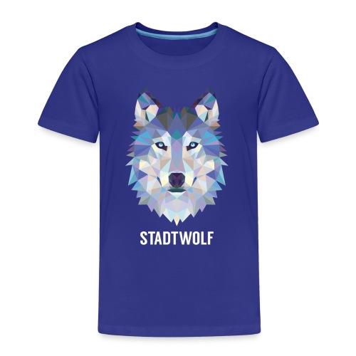 Wolf, fraktal - Kinder T-Shirt Jagd - Kinder Premium T-Shirt
