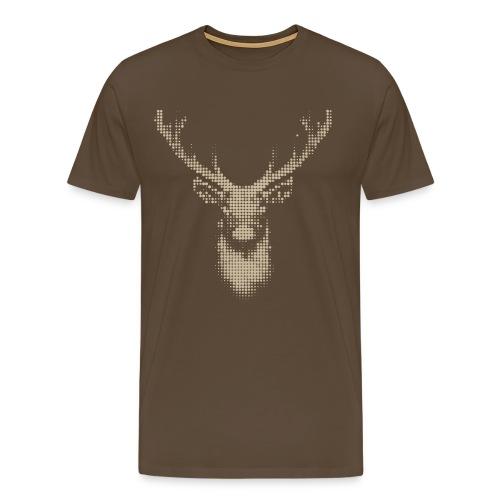 Hirsch, fraktal - Herren T-Shirt Jagd - Männer Premium T-Shirt