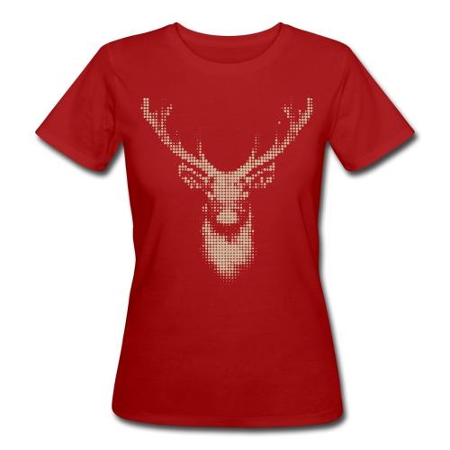 Hirsch, fraktal - Frauen Bio T-Shirt Jagd - Frauen Bio-T-Shirt