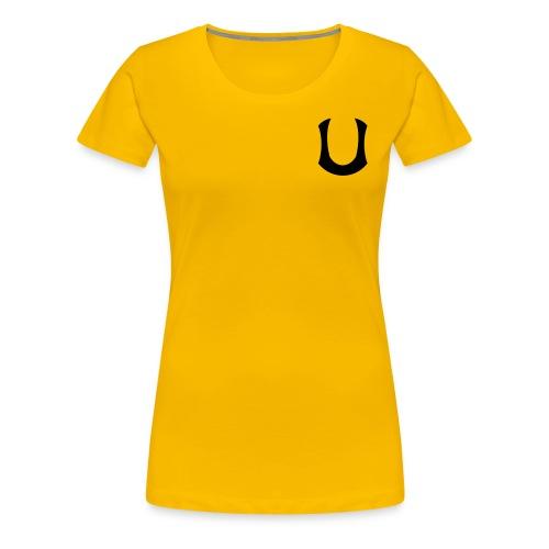 Naisten keltainen t-paita - Naisten premium t-paita