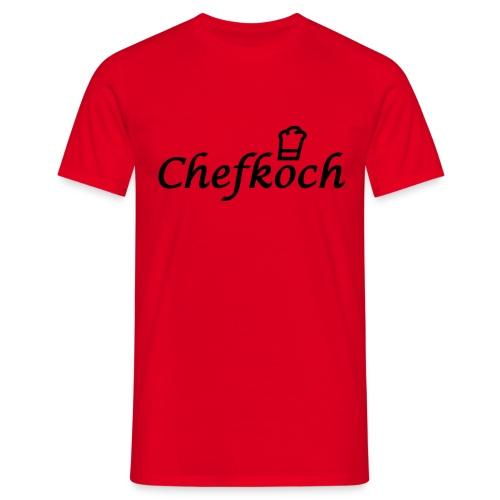 Chefkoch rot - Männer T-Shirt