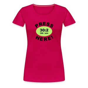 Press Here - Girlie Shirt - Frauen Premium T-Shirt
