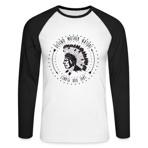 SIOUX BLK - Männer Baseballshirt langarm