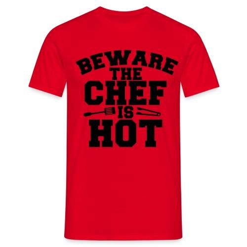 Heißer Chefgriller - Männer T-Shirt
