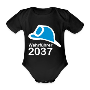 Einsatzstrampfer für den Wehrführer 2037 - Baby Bio-Kurzarm-Body