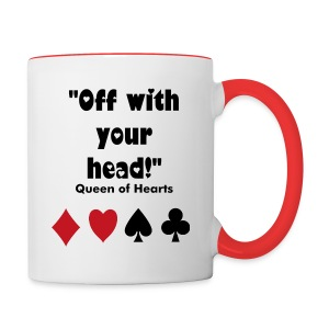 Off with your Head! Alice im Wunderland-Tasse - Tasse zweifarbig