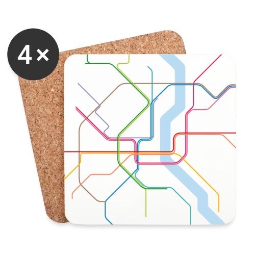 Subway Cologne - Untersetzer (4er-Set)
