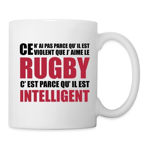 Mug Rugby Intelligent - Mug blanc