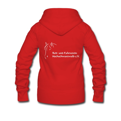 RFV Hochschwarzwald  Damenjacke (Druck weiß) - Frauen Premium Kapuzenjacke