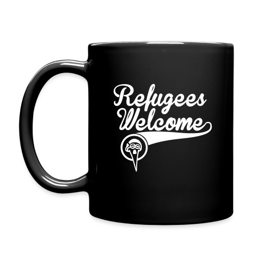 Refugees welcome – Storch Heinar - Tasse einfarbig