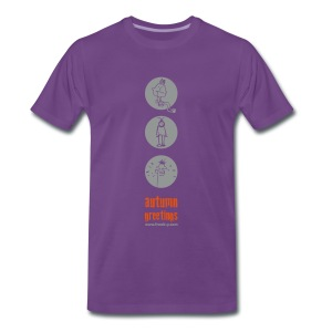 autumn greetings - Männer Premium T-Shirt