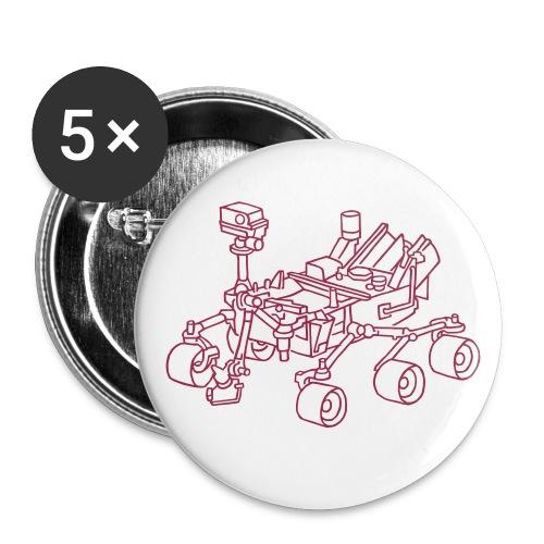 Curiosity, der Marsrover - Buttons mittel 32 mm