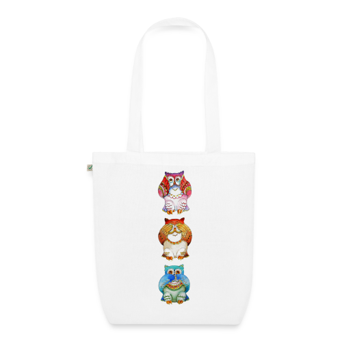 Three wise owls - EarthPositive Tote Bag