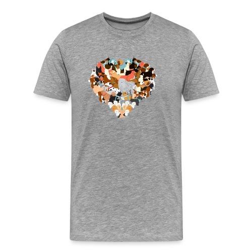 We love dogs - Männer Premium T-Shirt