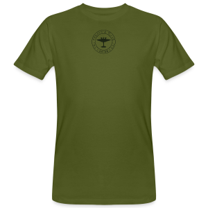 Men's Neck MP Logo Organic T-Shirt - Green - Men's Organic T-shirt