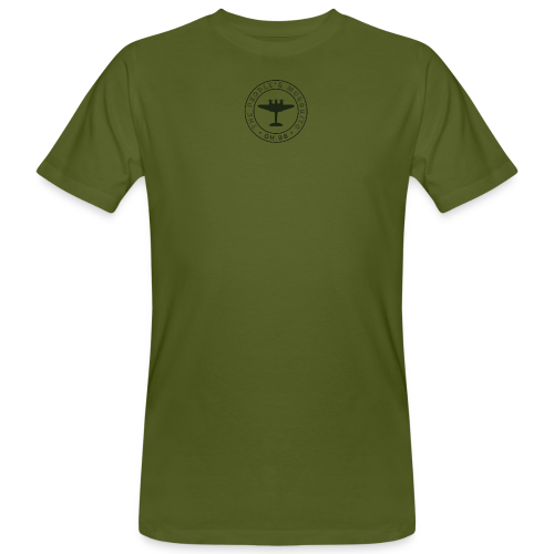 Men's Neck MP Logo Organic T-Shirt - Green - Men's Organic T-shirt
