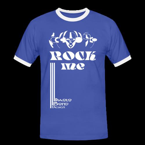 ROCK ME + Ärmeldruck - Männer Kontrast-T-Shirt