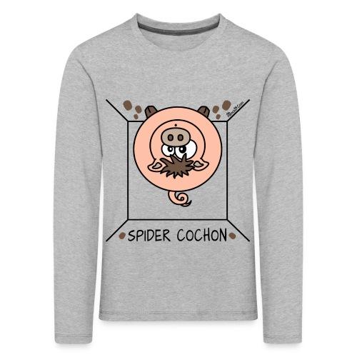 Tee shirt manches longues Premium Enfant, Spider Cochon, Homer Simpson - T-shirt manches longues Premium Enfant