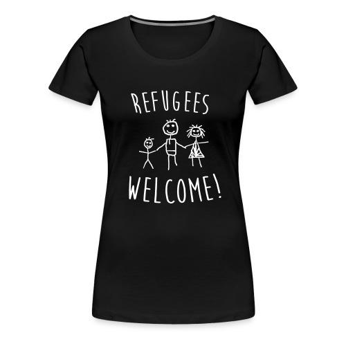 Refugees Welcome - Damen Shirt - Freie Farbwahl - Frauen Premium T-Shirt
