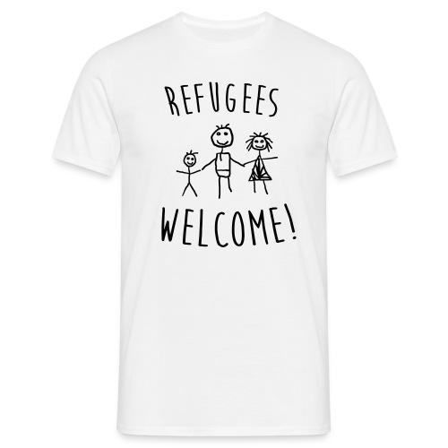 Refugees Welcome - Herren Shirt - Freie Farbwahl - Männer T-Shirt
