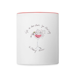 Nellie Doodles Life is too Short  - Contrasting Mug
