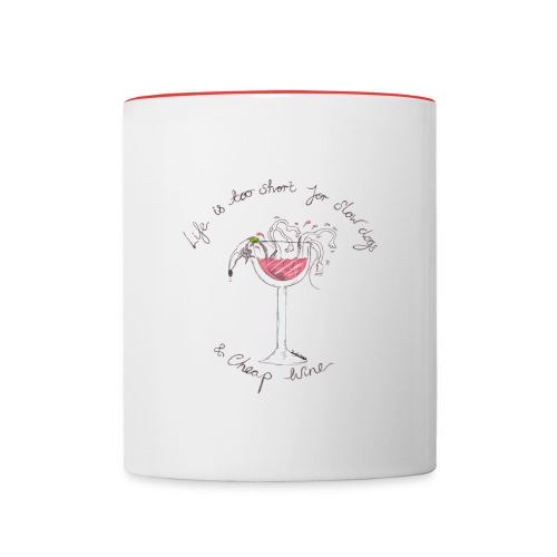 Nellie Doodles Life is too Short  - Contrasting Mug